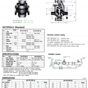 PRESURE REDUCING VALVE JRV-SF11,SF21 [RV-A, B]